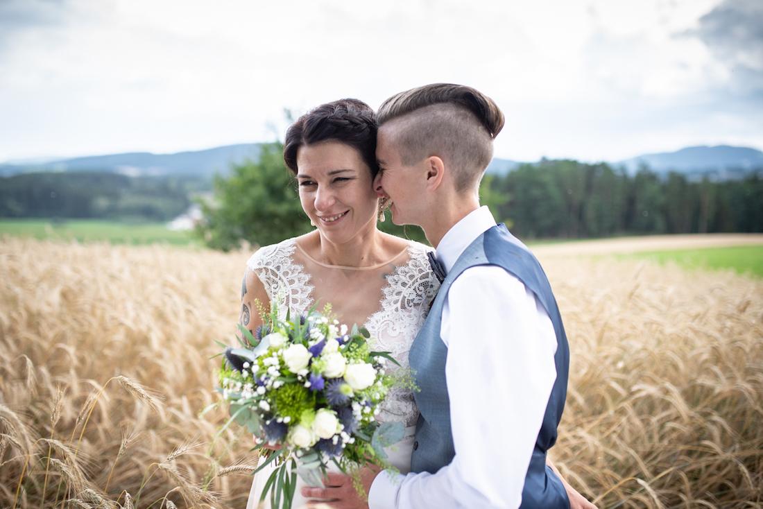 Hochzeitsfoto zwei Frauen