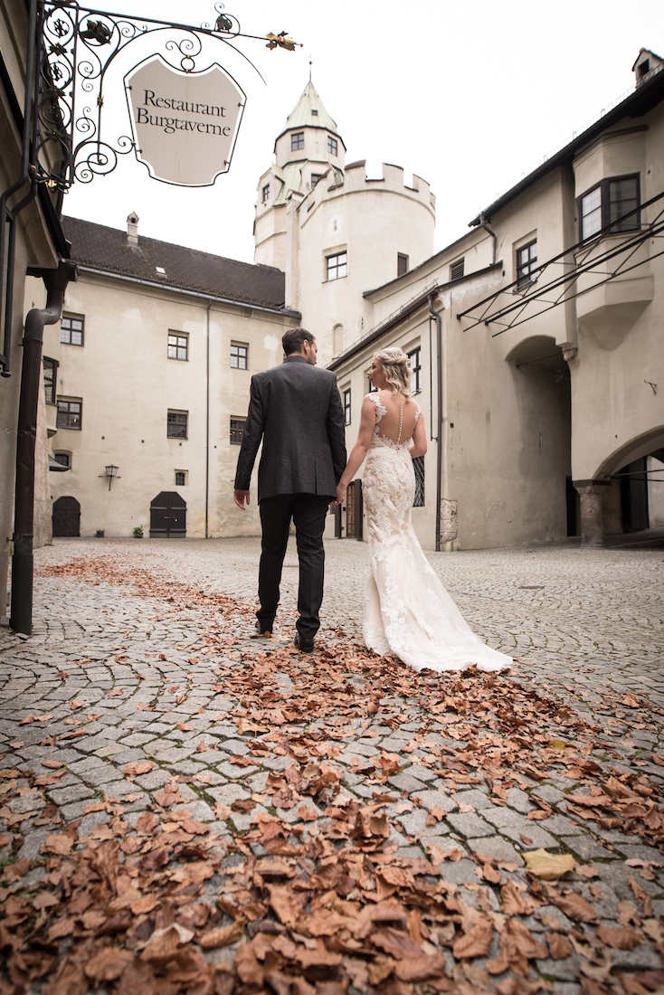 Fotoshooting Brautpaar Herbst