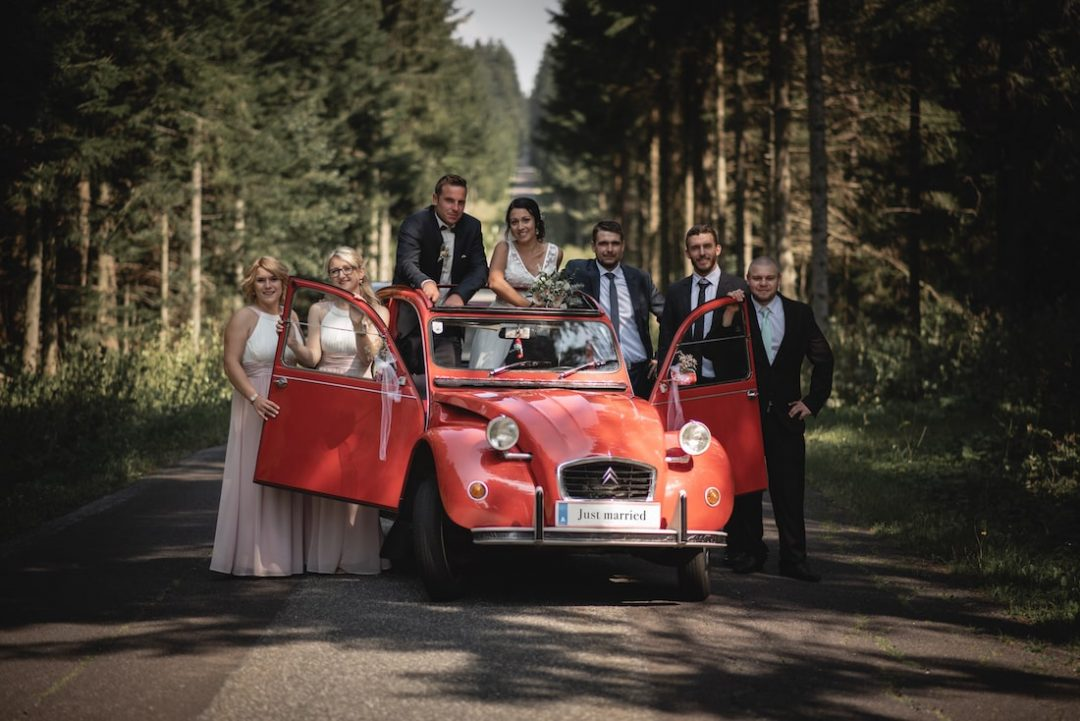 Hochzeit Fotoshooting Oldtimer Outdoor