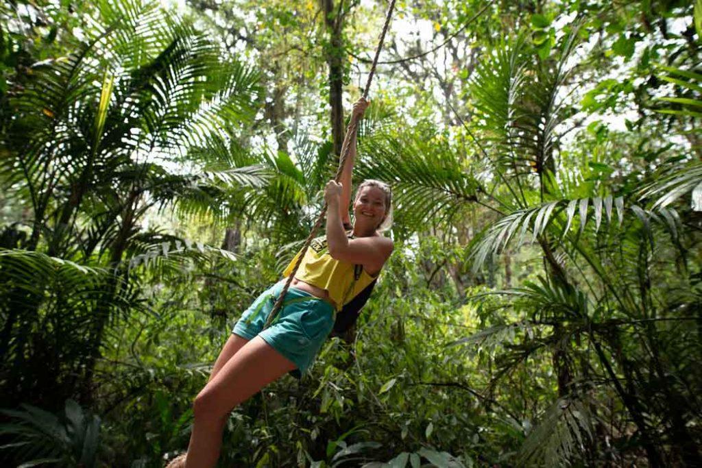 Einmal wieder Kind fühlen und wie Tarzan durch den Dschungel schwingen. So etwas sollte ich öfter eindeutig machen.