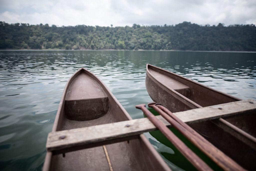 Zugegeben, unser Guide paddelte und brachte uns sicher an da andere Ufer.