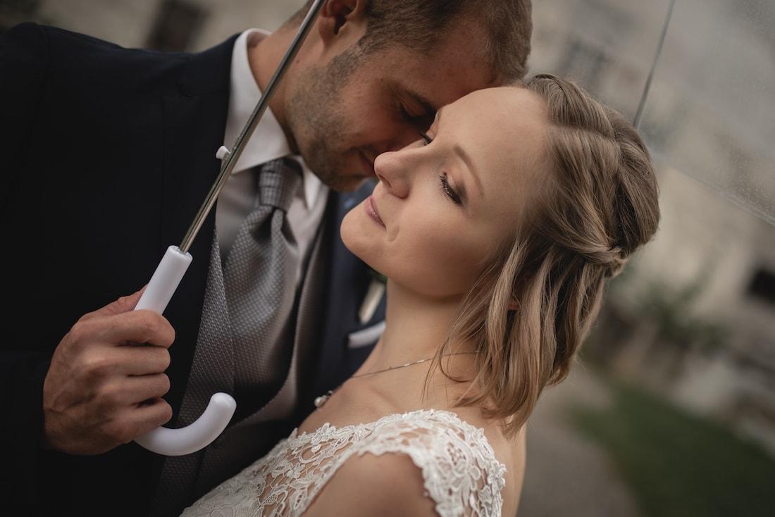 Fotoshooting Hochzeit Regen