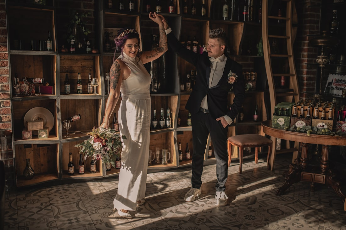 Shooting Hochzeit in Brauerei