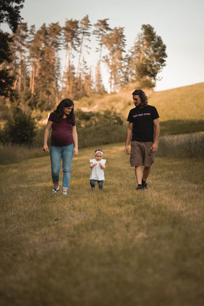 Babybauch Fotoshooting mit Kind
