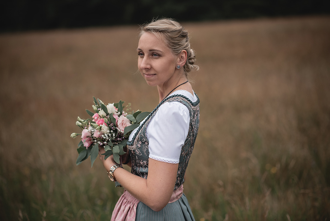 Braut in Tracht Fotoshooting