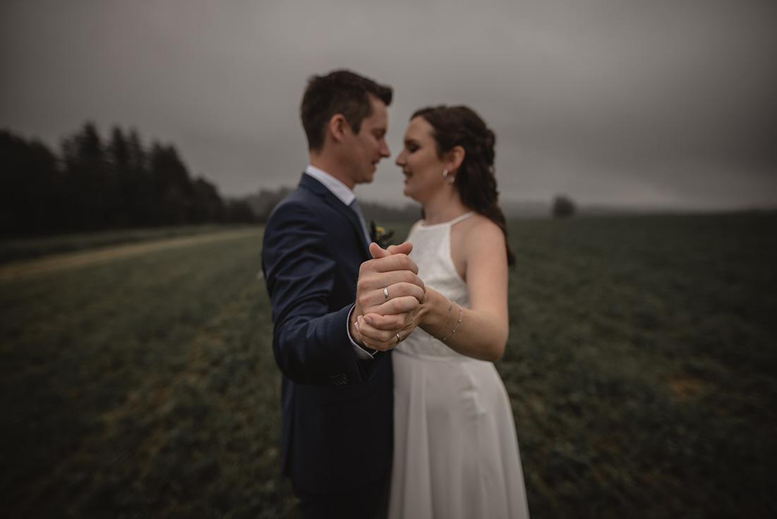 Hochzeitfoto düster Nebel