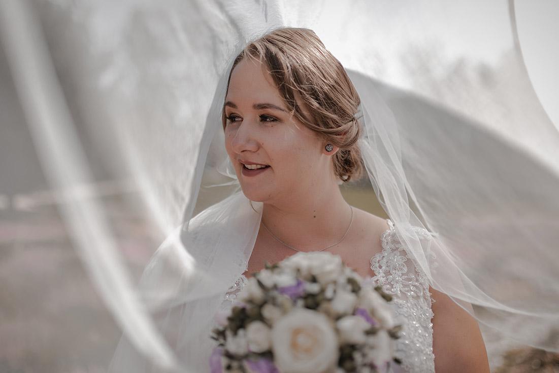Foto Braut mit Schleier